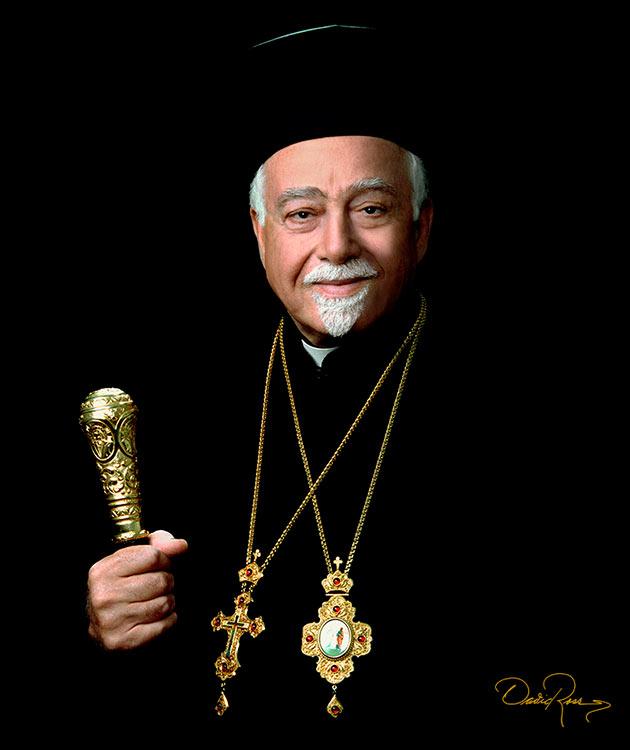 Arzobispo Antonio Chedraoui Tannous - Clérigo de la iglesia ortodoxa de Antioquía - David Ross - Fotógrafo de Personalidades