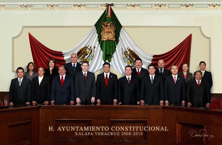 Ayuntamiento de Xalapa, Veracruz 2008-2010 - David Ross - Fotografo de Grupos