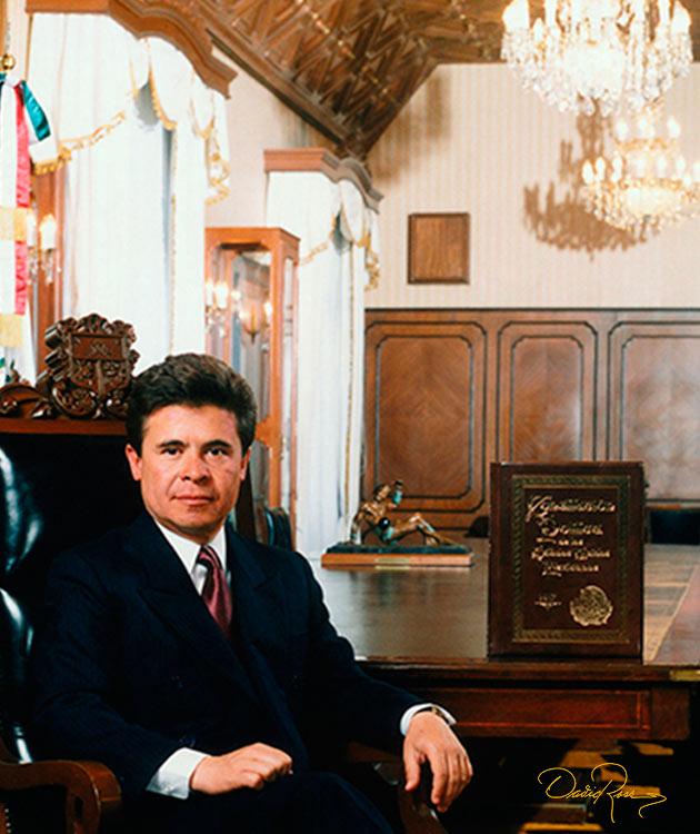 Enrique Burgos García - Gobernador de Querétaro 1991-1997 - David Ross - Fotógrafo de Gobernadores