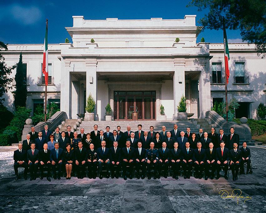 Gabinete Presidencial Vicente Fox Quesada 2000-2006 - David Ross - Fotografo de Grupos