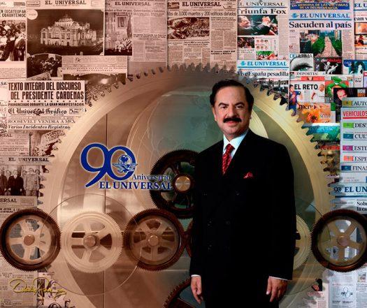 Juan Francisco Ealy Ortiz - Presidente Ejecutivo y del Consejo de Administración de El Universal - David Ross - Fotógrafo de Empresarios