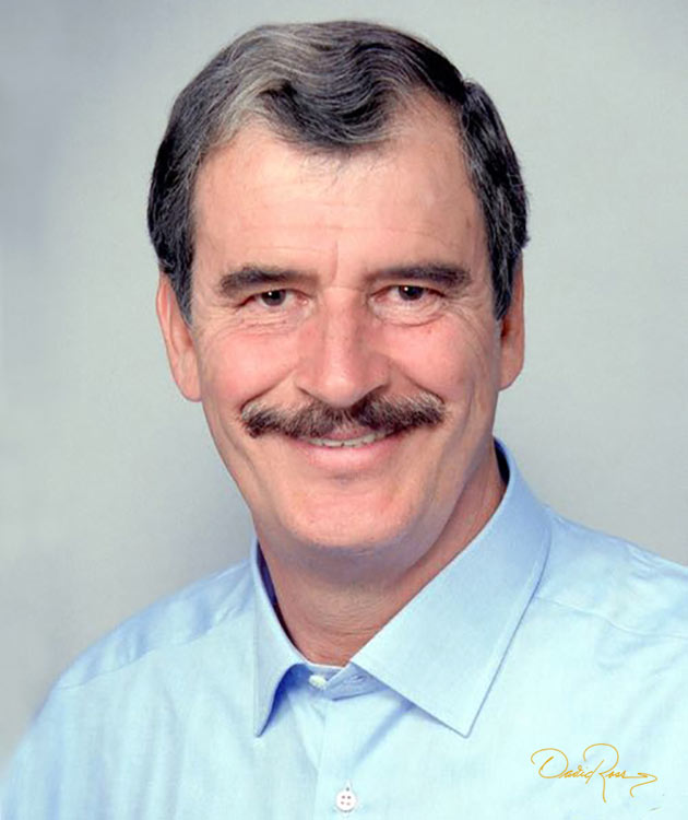 Vicente Fox Quesada - Empresario, político mexicano y Presidente de México - David Ross - Fotógrafo de Políticos